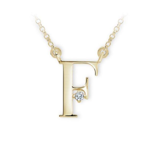 Danfil přívěsek DF 4511 ze žlutého zlata – písmeno F