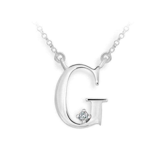 Danfil přívěsek DF 4512 z bílého zlata – písmeno G