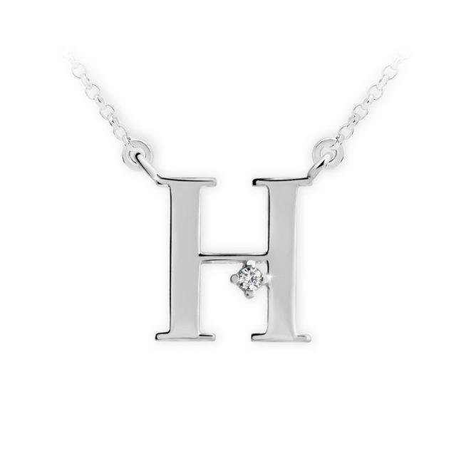 Danfil přívěsek DF 4513 z bílého zlata – písmeno H