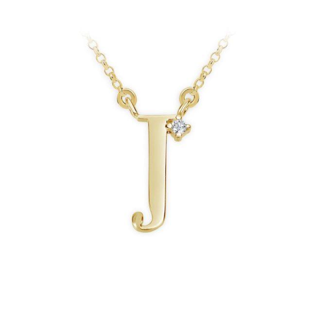 Danfil přívěsek DF 4515 ze žlutého zlata – písmeno J