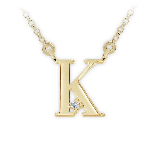 Danfil přívěsek DF 4516 ze žlutého zlata – písmeno K
