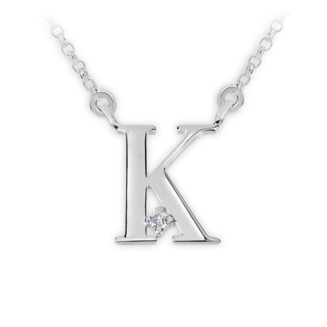 Danfil přívěsek DF 4516 z bílého zlata – písmeno K