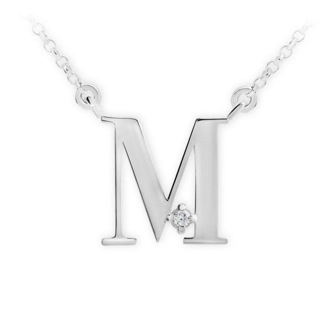 Danfil přívěsek DF 4518 z bílého zlata – písmeno M