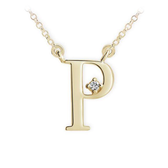 Danfil přívěsek DF 4521 ze žlutého zlata – písmeno P