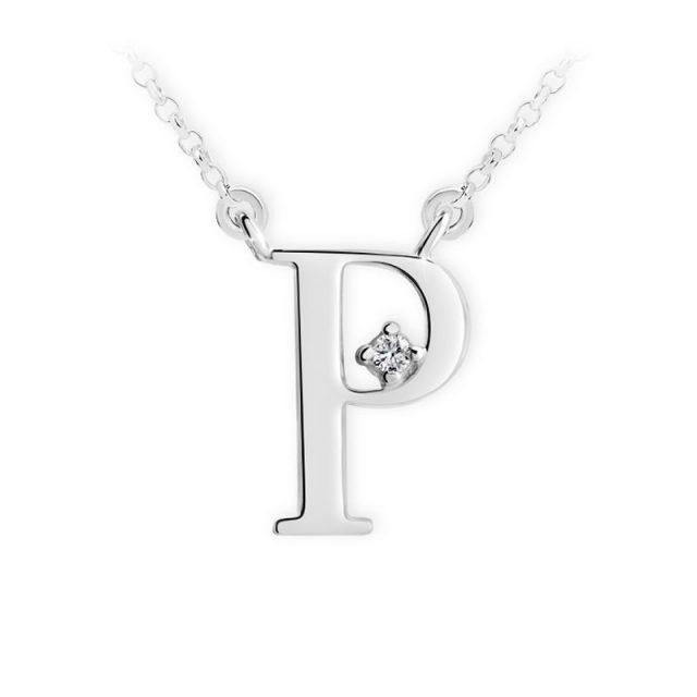 Danfil přívěsek DF 4521 z bílého zlata – písmeno P