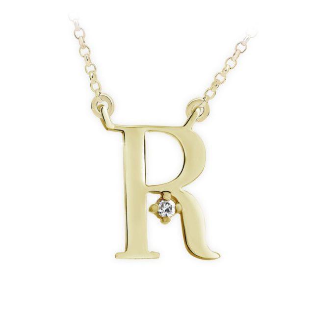 Danfil přívěsek DF 4523 ze žlutého zlata – písmeno R