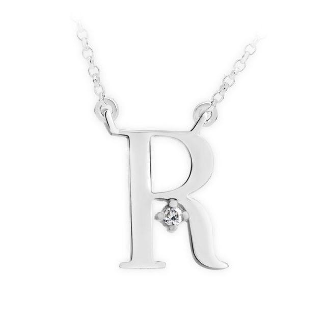 Danfil přívěsek DF 4523 z bílého zlata – písmeno R