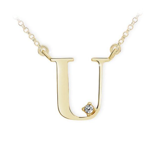 Danfil přívěsek DF 4526 ze žlutého zlata – písmeno U