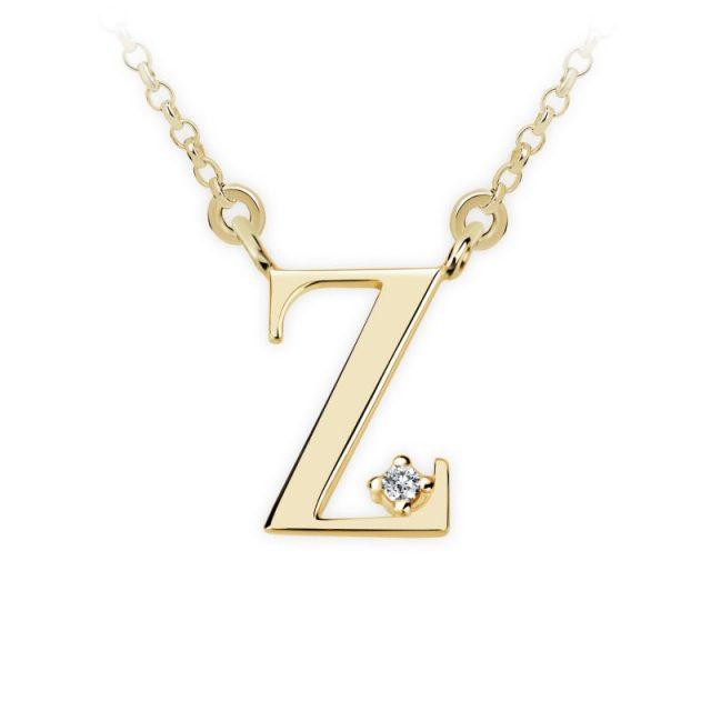 Danfil přívěsek DF 4531 ze žlutého zlata – písmeno Z