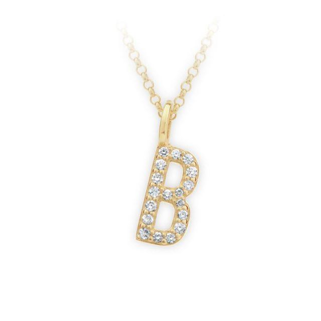 Danfil přívěsek DF 4735 ze žlutého zlata – písmeno B
