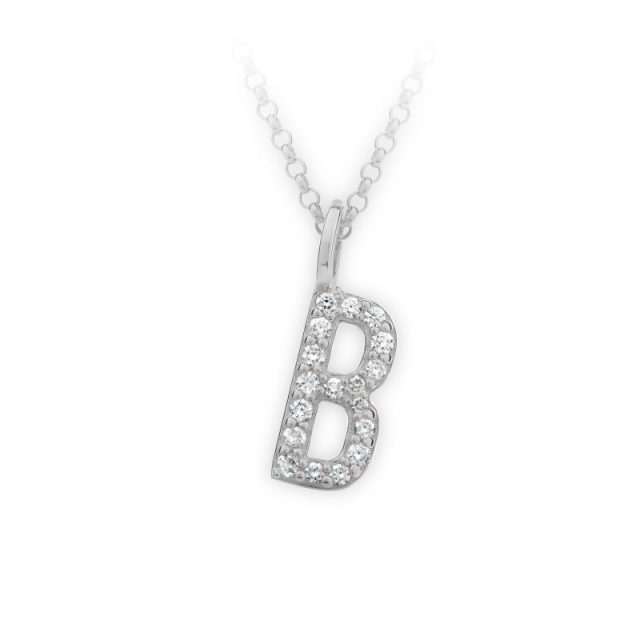 Danfil přívěsek DF 4735 z bílého zlata – písmeno B