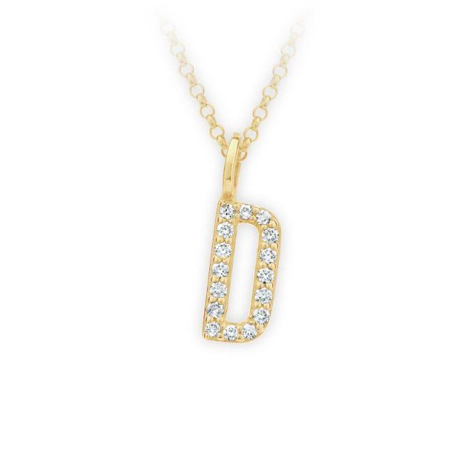 Danfil přívěsek DF 4737 ze žlutého zlata – písmeno D