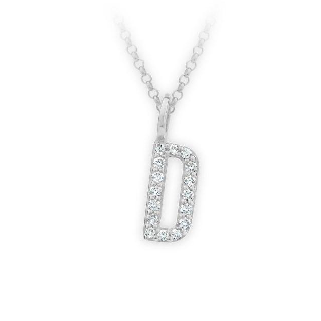 Danfil přívěsek DF 4737 z bílého zlata – písmeno D