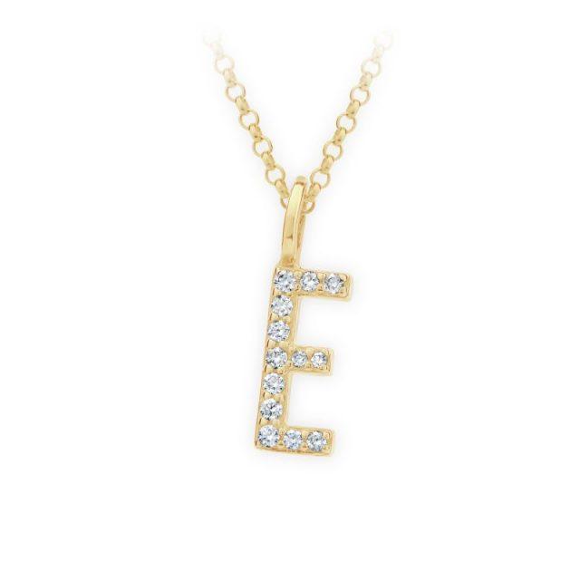 Danfil přívěsek DF 4738 ze žlutého zlata – písmeno E