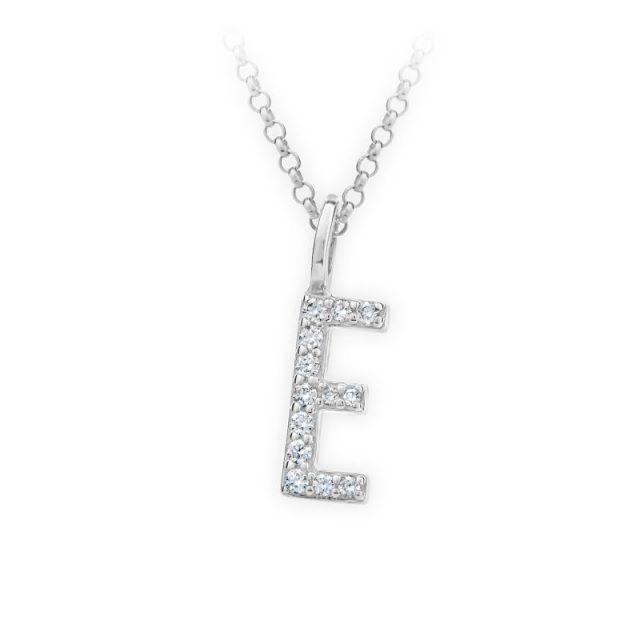 Danfil přívěsek DF 4738 z bílého zlata – písmeno E