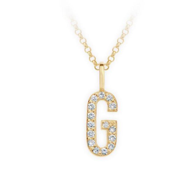 Danfil přívěsek DF 4740 ze žlutého zlata – písmeno G