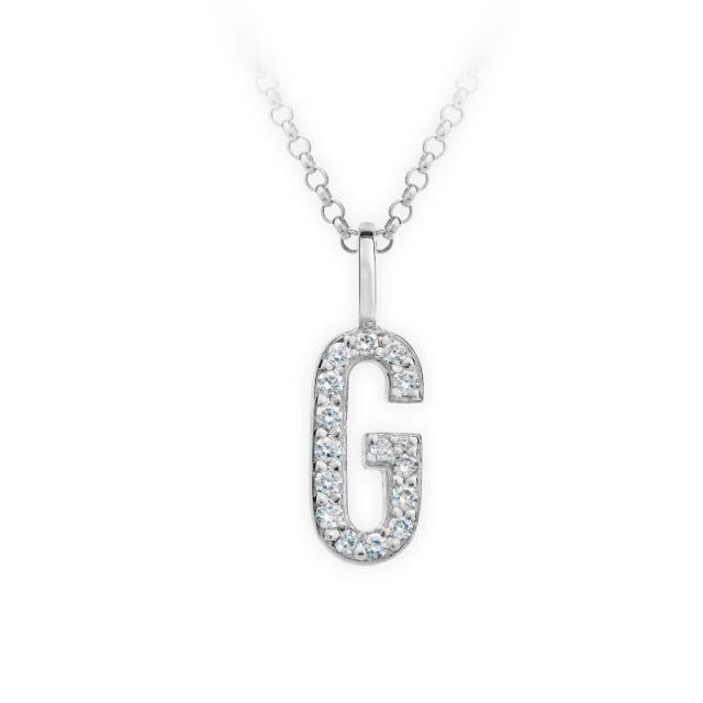 Danfil přívěsek DF 4740 z bílého zlata – písmeno G