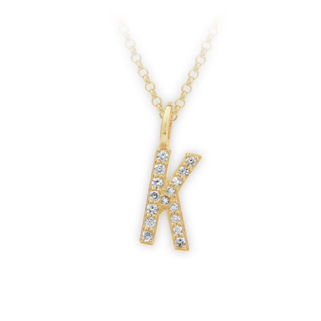Danfil přívěsek DF 4744 ze žlutého zlata – písmeno K