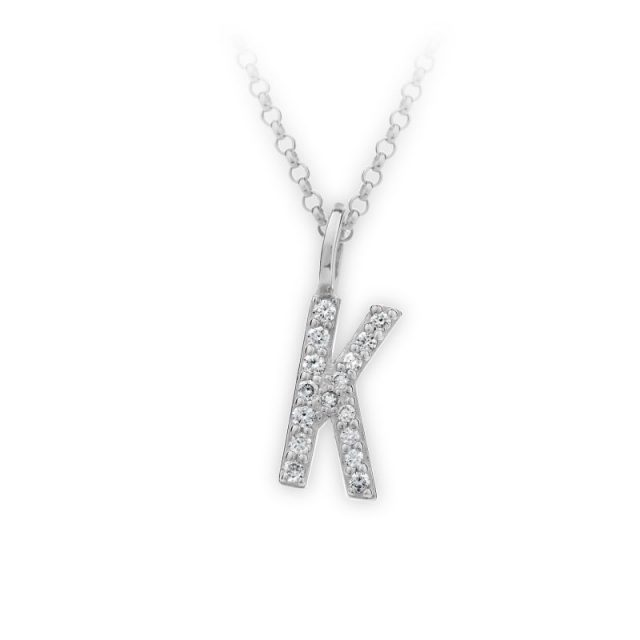 Danfil přívěsek DF 4744 z bílého zlata – písmeno K