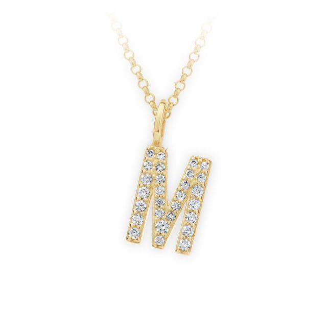 Danfil přívěsek DF 4746 ze žlutého zlata – písmeno M