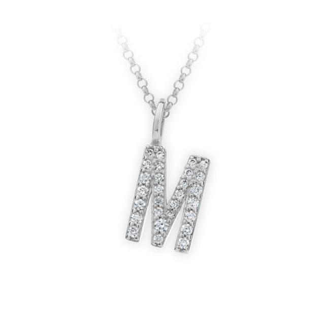 Danfil přívěsek DF 4746 z bílého zlata – písmeno M