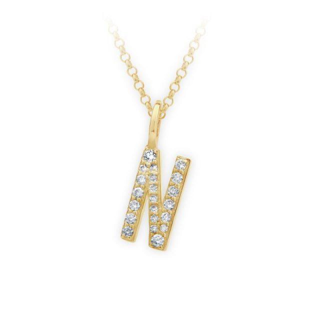 Danfil přívěsek DF 4747 ze žlutého zlata – písmeno N