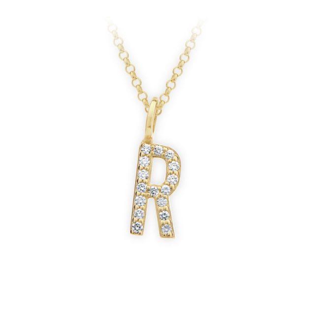 Danfil přívěsek DF 4751 ze žlutého zlata – písmeno R