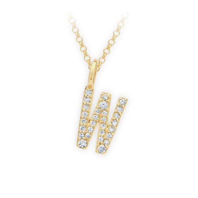 Danfil přívěsek DF 4756 ze žlutého zlata – písmeno W