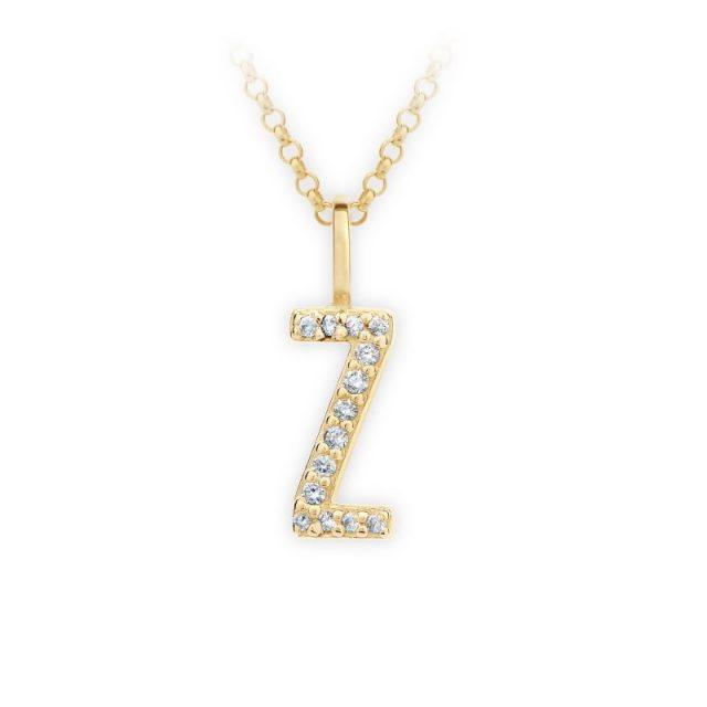 Danfil přívěsek DF 4759 ze žlutého zlata – písmeno Z