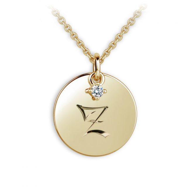 Danfil přívěsek DF P120 ze žlutého zlata – písmeno Z