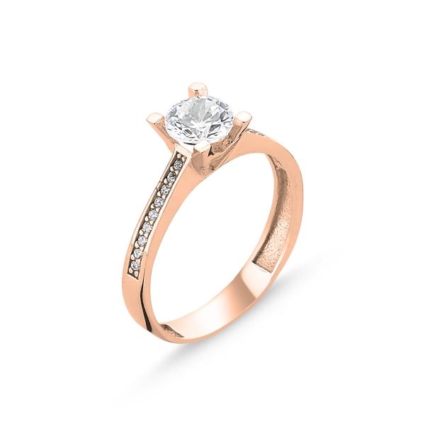 3107 Stříbrný prsten ROSE
