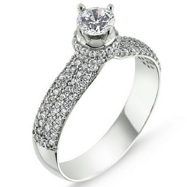 1361 Stříbrný prsten se Swarovski zirkony