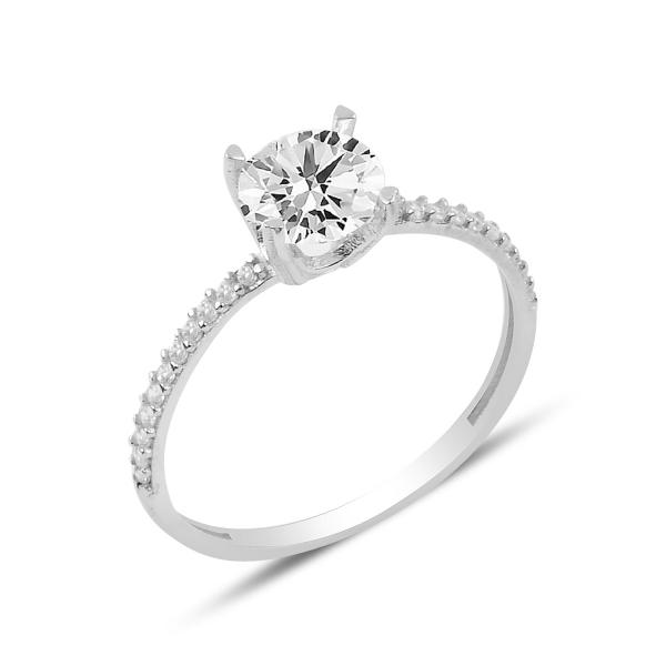3900 Stříbrný prstýnek se zirkonem