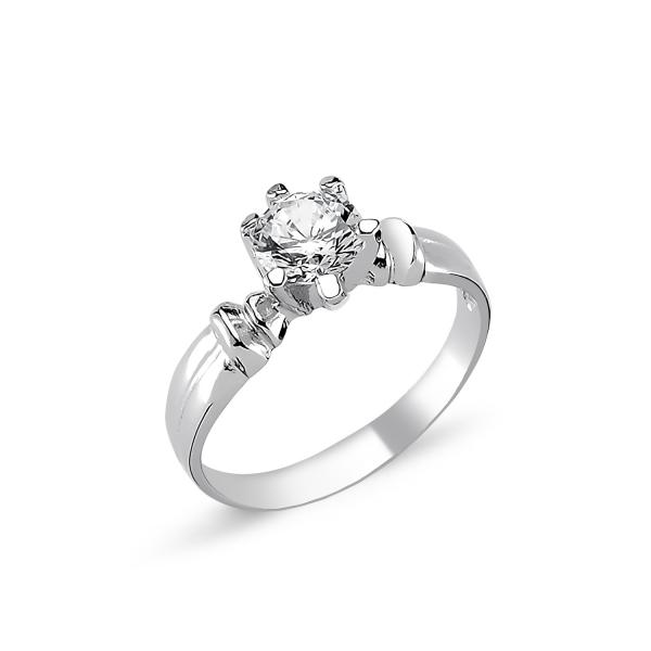 1726 Stříbrný solitérní prsten CZ