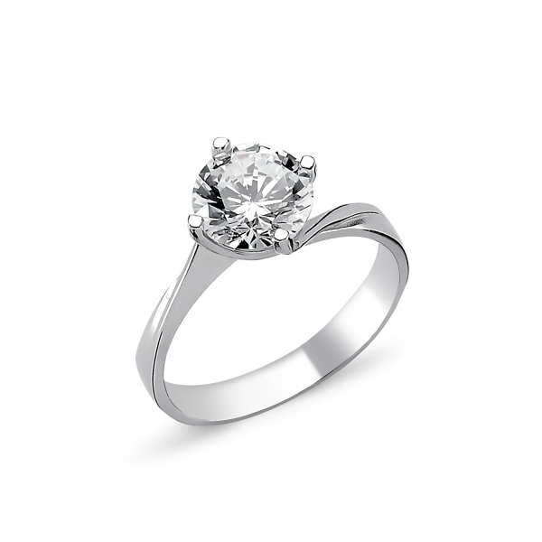 1265 Stříbrný solitérní prsten se zirkonem