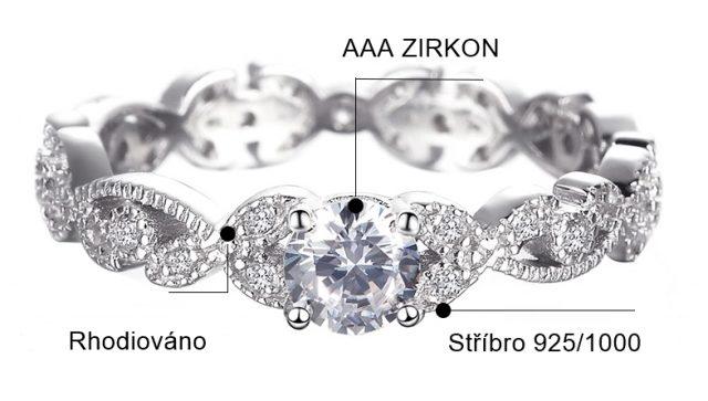 2412 Stříbrný zásnubní prsten