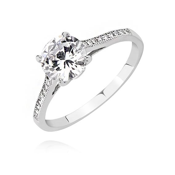2651 Stříbrný zásnubní prsten