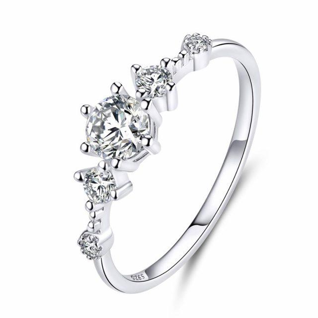 4122 Stříbrný zásnubní prsten