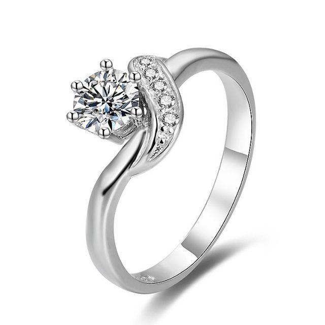 4333 Stříbrný zásnubní prsten