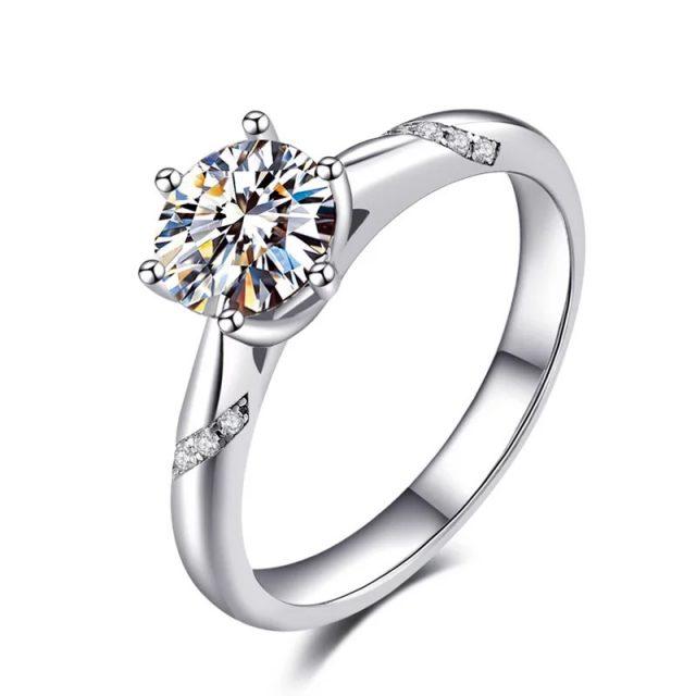4131 Stříbrný zásnubní prsten AMBER