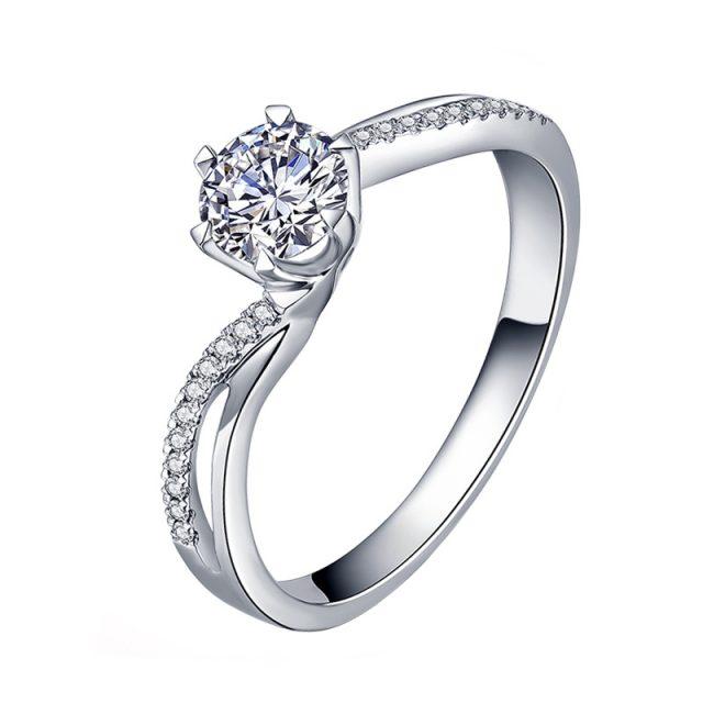 4132 Stříbrný zásnubní prsten BECCA