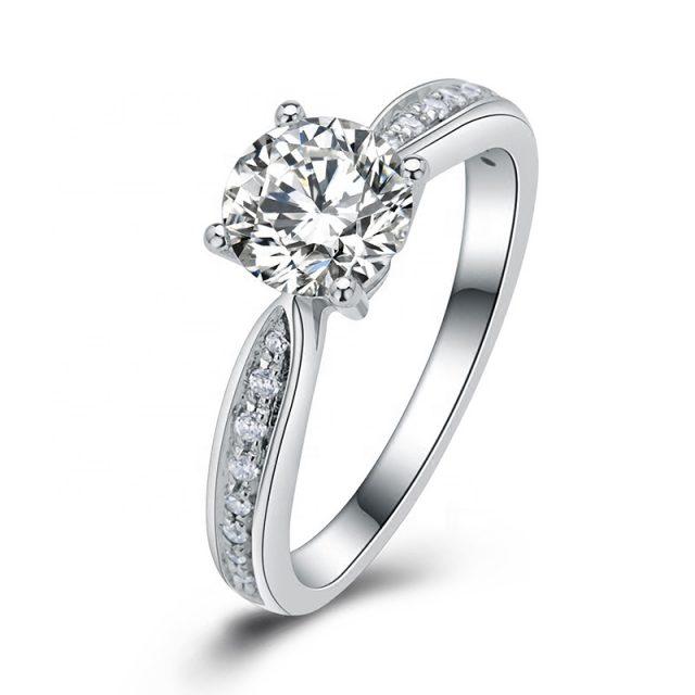 4133 Stříbrný zásnubní prsten COURTNEY