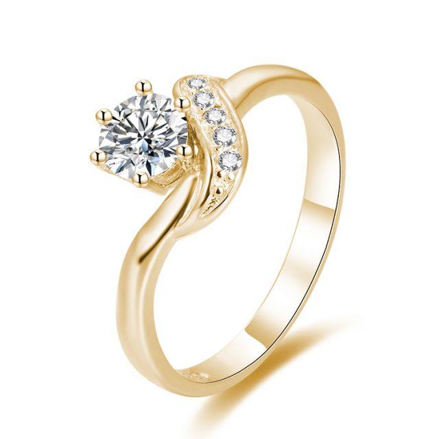 4332 Stříbrný zásnubní prsten GOLD