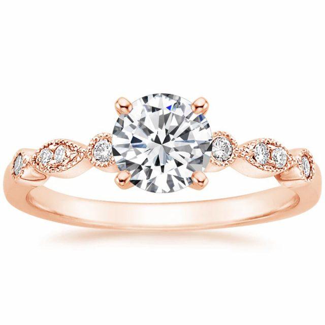 4112 Stříbrný zásnubní prsten ROSE