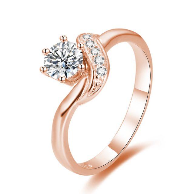 4334 Stříbrný zásnubní prsten ROSE
