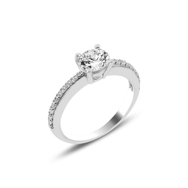 3901 Stříbrný zásnubní prstýnek se zirkonem