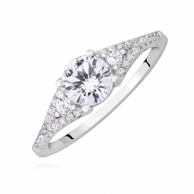2185 Zásnubní stříbrný prsten