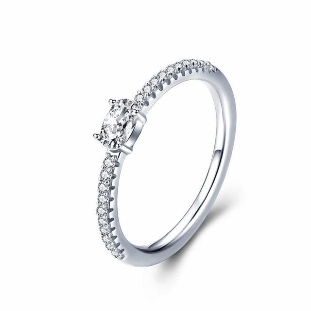 3789 Zásnubní stříbrný prsten