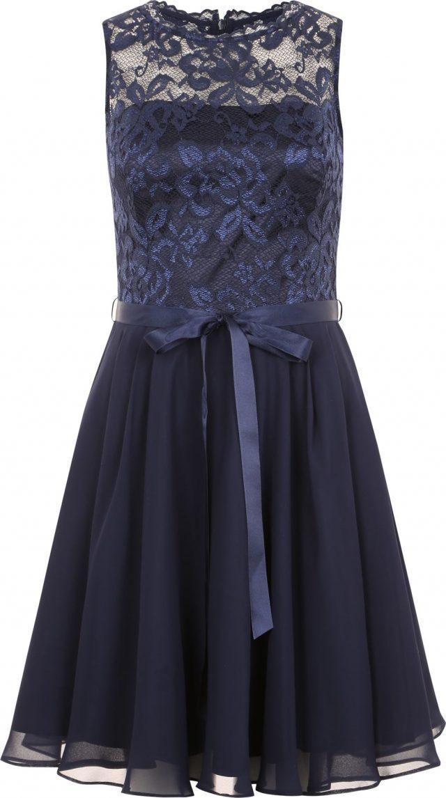 SWING Koktejlové šaty tmavě modrá