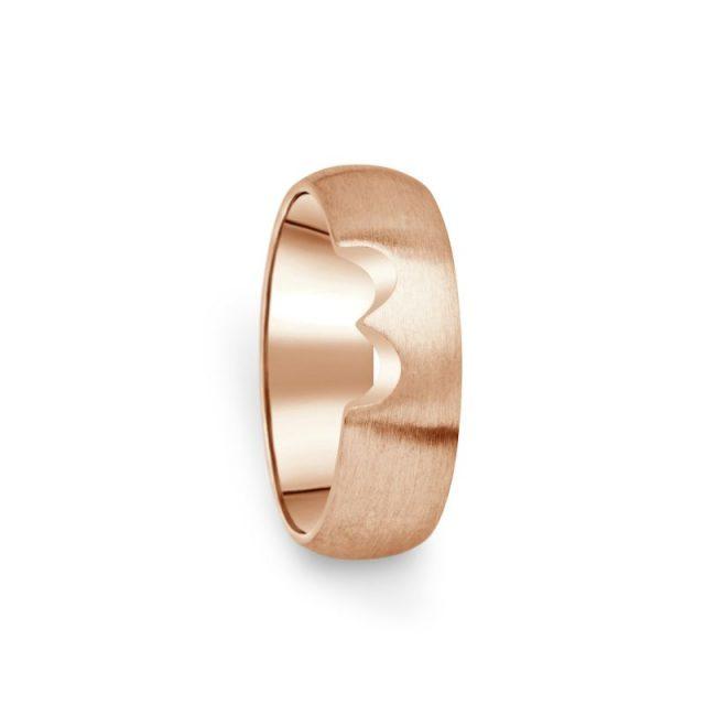 Prsten Danfil DF03/D červené(růžové) zlato 585/1000 bez kamene, povrch brus